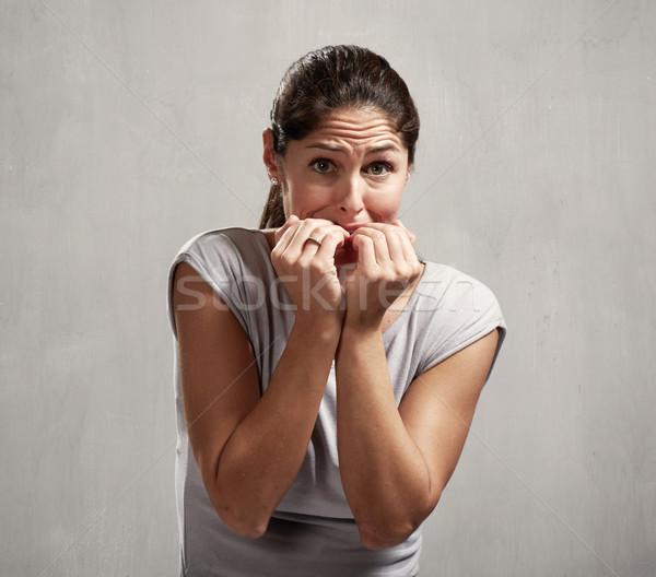 Scared afraid woman Stock photo © Kurhan