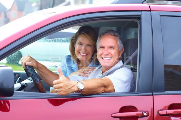 Senior couple in the car Stock photo © Kurhan