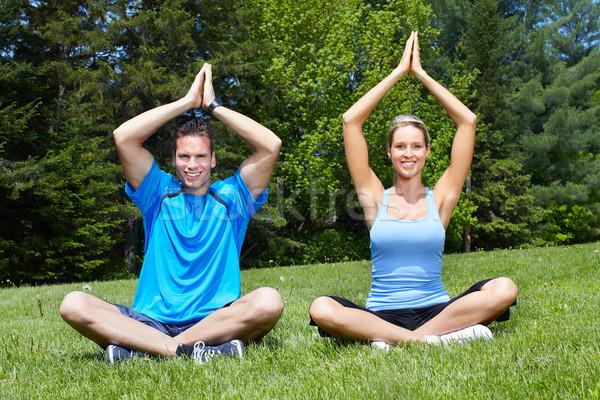 Yoga. Stock photo © Kurhan