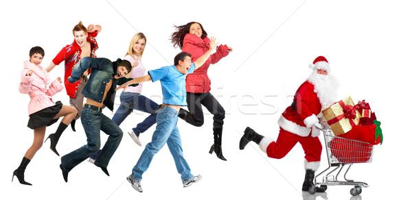 Christmas shopping people. Stock photo © Kurhan