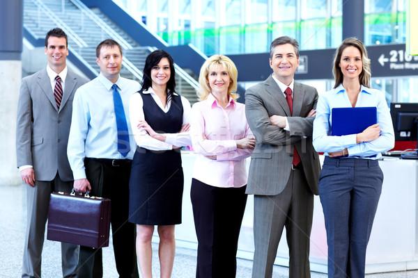 Foto stock: Equipe · de · negócios · grupo · pessoas · de · negócios · moderno · ouvir · reunião