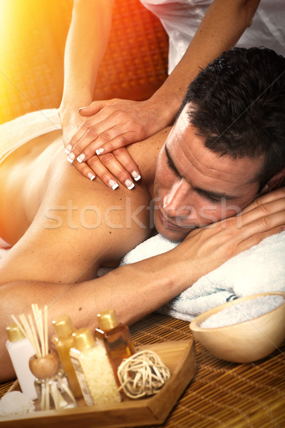 Man having massage. Stock photo © Kurhan