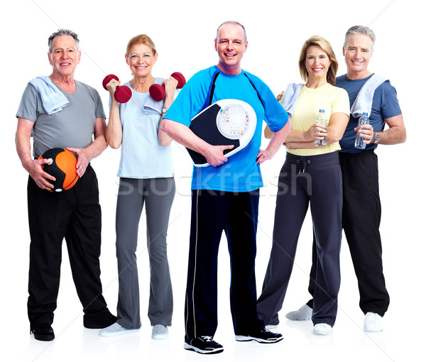 Group of fitness people. Stock photo © Kurhan