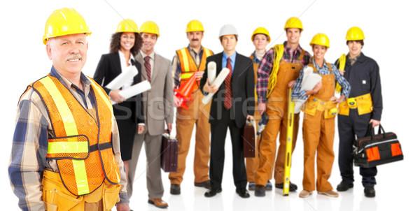 Pracowników przemysłowych ludzi odizolowany biały działalności Zdjęcia stock © Kurhan