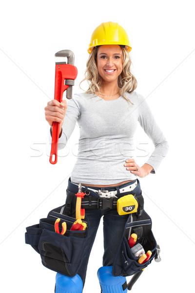 фото девушка и сантехник
