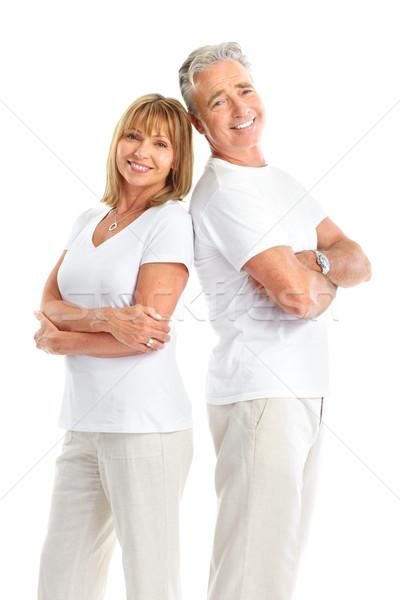ストックフォト: 高齢者 · カップル · 幸せ · 愛 · 孤立した