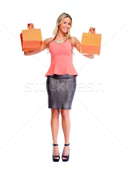 Beautiful woman with shopping bags. Stock photo © Kurhan