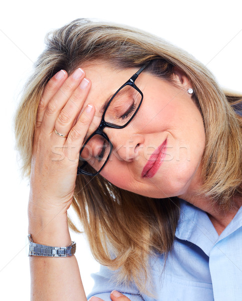 Elderly woman having a headache. Stock photo © Kurhan