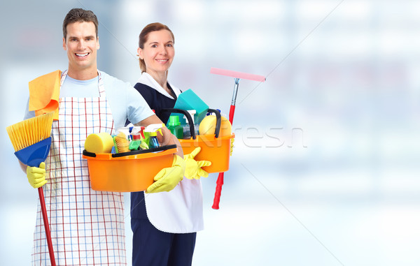 Housekeeping service team. Stock photo © Kurhan
