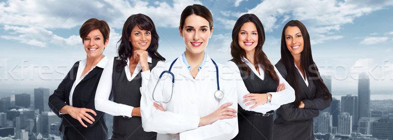Grupo pessoas de negócios sorridente urbano mulher médico Foto stock © Kurhan