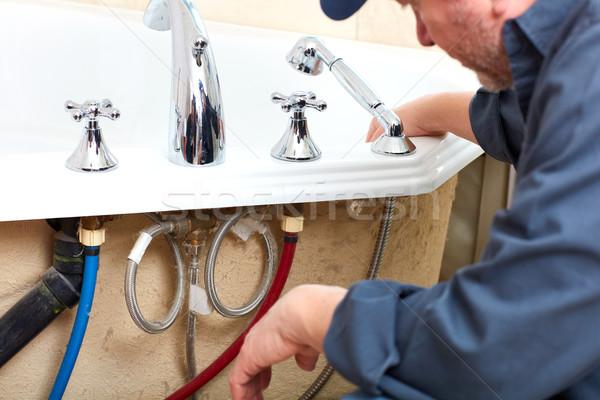 Encanador profissional banheiro casa casa Foto stock © Kurhan
