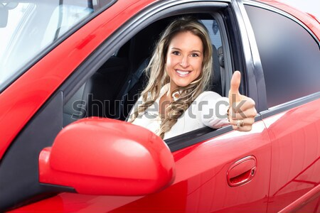 woman  in the car Stock photo © Kurhan