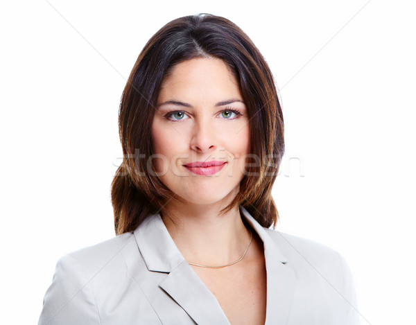 Stock photo: Beautiful young business woman.