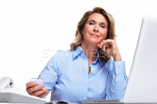 Business woman having a headache. Stock photo © Kurhan