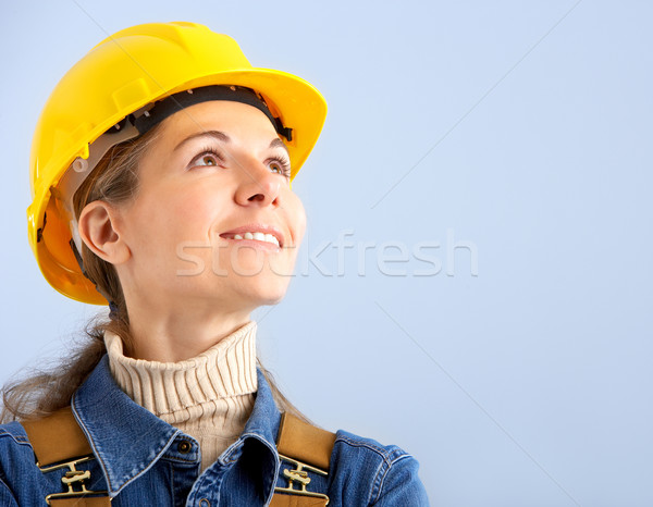 builder woman Stock photo © Kurhan