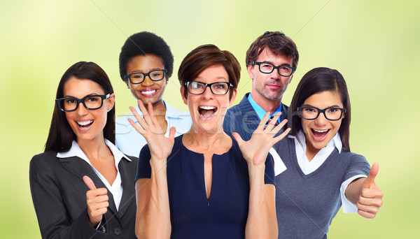 Group of business people wearing eyeglasses. Stock photo © Kurhan