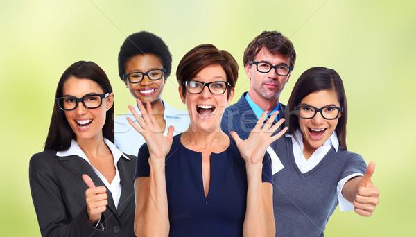 Grup iş adamları gözlük göz sağlık Stok fotoğraf © Kurhan