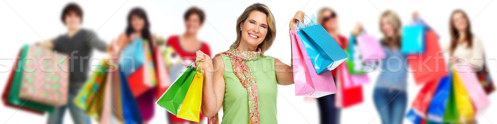 Group of happy shopping customers. Stock photo © Kurhan