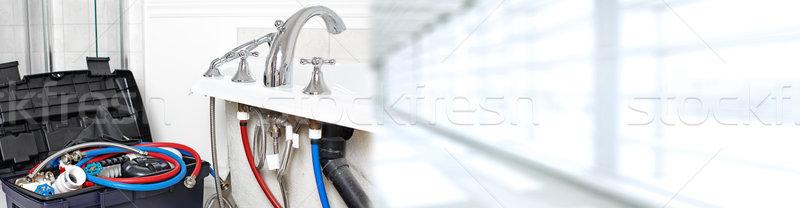Fontanería herramientas bano construcción Foto stock © Kurhan