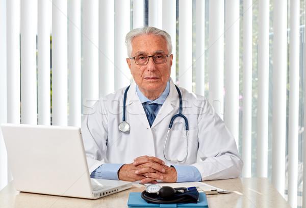 Elderly doctor man in hospital. Stock photo © Kurhan