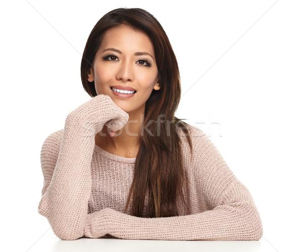 Gyönyörű kínai lány portré ázsiai nő Stock fotó © Kurhan