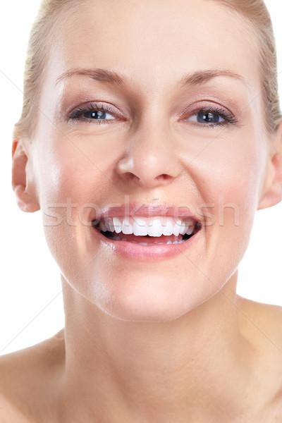 Stock photo: Beautiful woman. Smile and teeth.