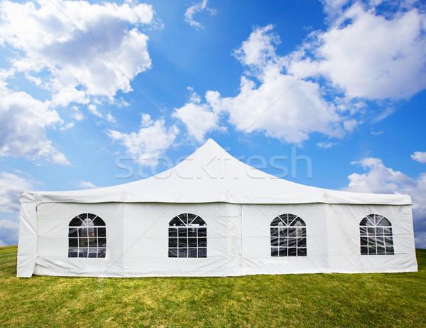 белый банкет палатки свадьба Blue Sky лет Сток-фото © Kurhan
