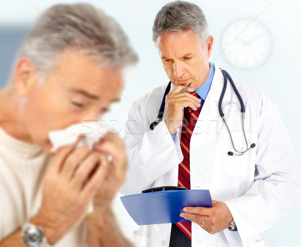 Influenza medico uomo faccia salute medicina Foto d'archivio © Kurhan