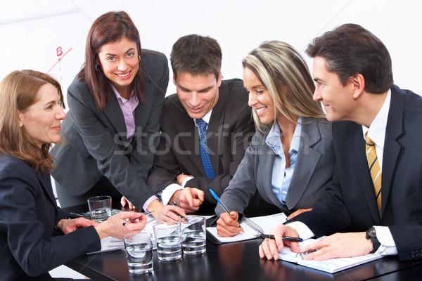 Equipe de negócios sorridente pessoas de negócios equipe trabalhando escritório Foto stock © Kurhan