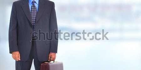 Businessman over office background. Stock photo © Kurhan
