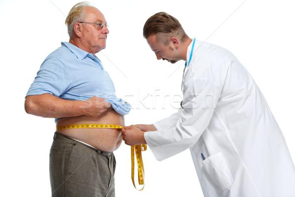 Orvos mér elhízott férfi test kövér Stock fotó © Kurhan