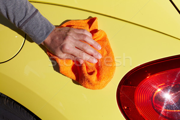 Carro cera pano mão lavagem depilação com cera Foto stock © Kurhan