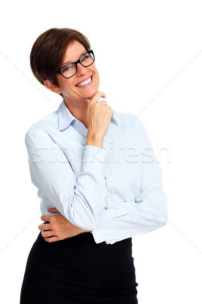 Dojrzały business woman krótki fryzura piękna odizolowany Zdjęcia stock © Kurhan