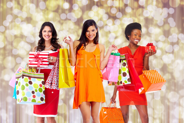 Group of Woman with shopping bags. Stock photo © Kurhan