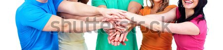 Hands with thumbs Stock photo © Kurhan