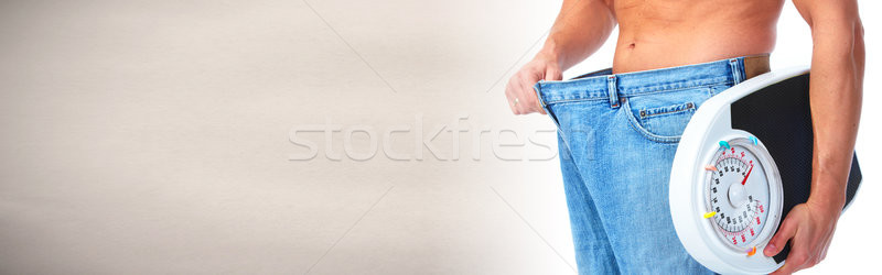 Homem abdômen balança masculino cintura grande Foto stock © Kurhan