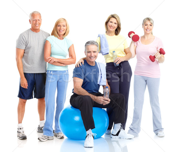 Healthy elderly people. Stock photo © Kurhan
