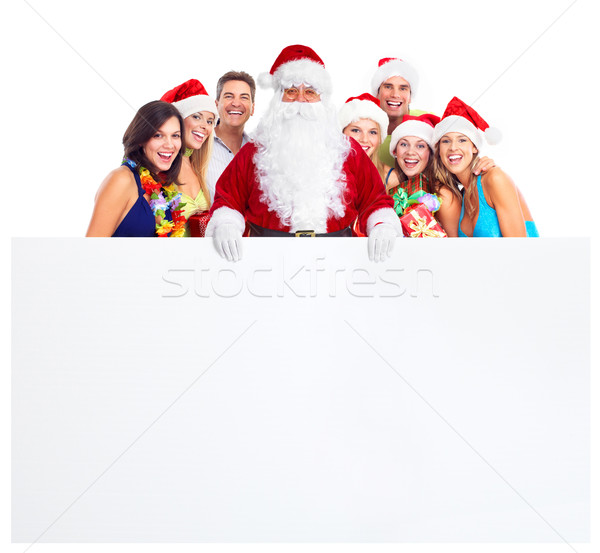 Christmas party. Happy people. Stock photo © Kurhan
