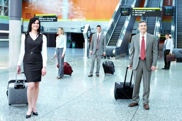 Grupo gente de negocios aeropuerto viaje negocios mujer Foto stock © Kurhan