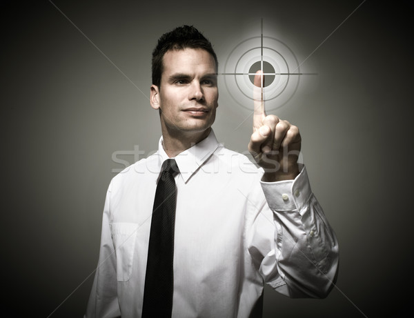 Man touching buttons. Stock photo © Kurhan