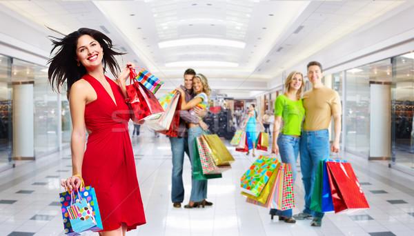 Beautiful Girl with shopping bags. Stock photo © Kurhan