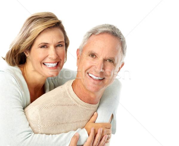 高齢者 カップル 幸せ 愛 孤立した 白 ストックフォト © Kurhan