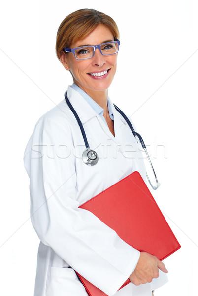 Mature medical doctor woman. Stock photo © Kurhan