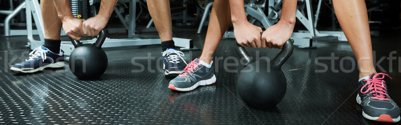 Hands with dumbbell Stock photo © Kurhan