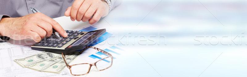 hand with calculator Stock photo © Kurhan