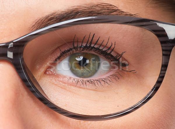 Woman eyes with eyeglasses. Stock photo © Kurhan