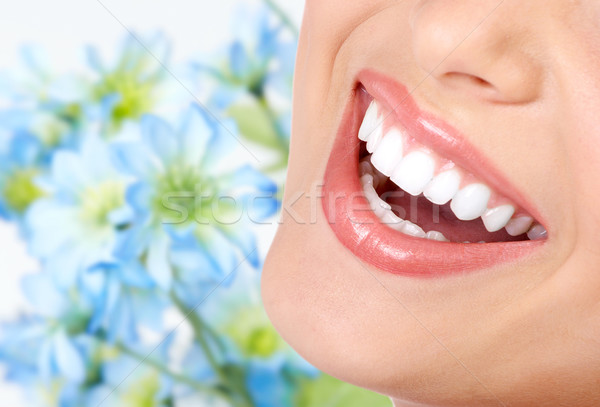 Smile and healthy teeth. Stock photo © Kurhan