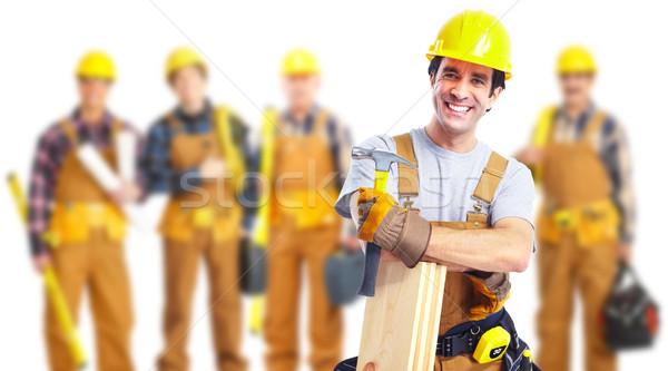 産業 労働 グループ 黄色 ヘルメット 建設 ストックフォト © Kurhan
