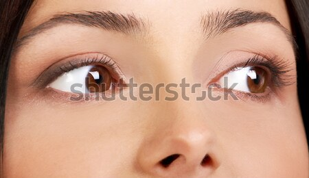 Meilleur femme yeux belle jeunes jolie femme Photo stock © Kurhan