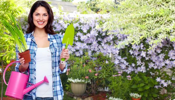 Stock photo: Gardening woman